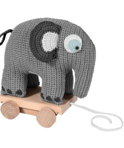 Crotchet pull-along elephant