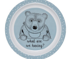 Toby plate - blue