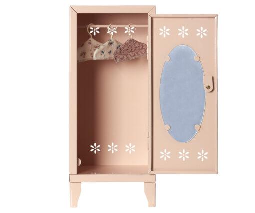 Maileg powder locker with door open