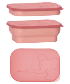 Maileg foldable lunch box coral