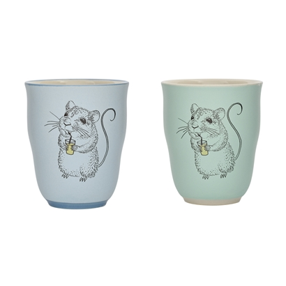 Bloomingville Eddie Cup in green or blue