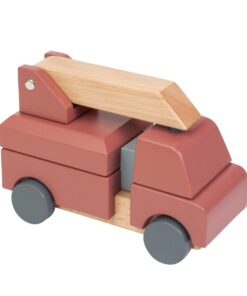 Sebra Fire Truck Wooden Stacking Toy