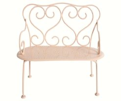 Maileg romantic bench in powder rose