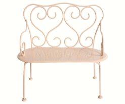 Maileg romantic bench in powder rose