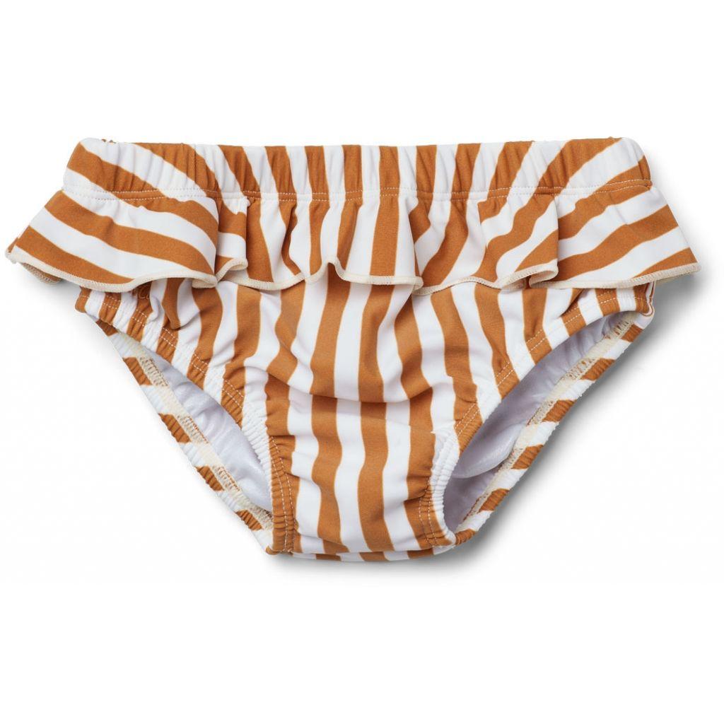 04a66c6a49 Elise baby girl swim pants, Stripe:Mustard/Creme 80/86